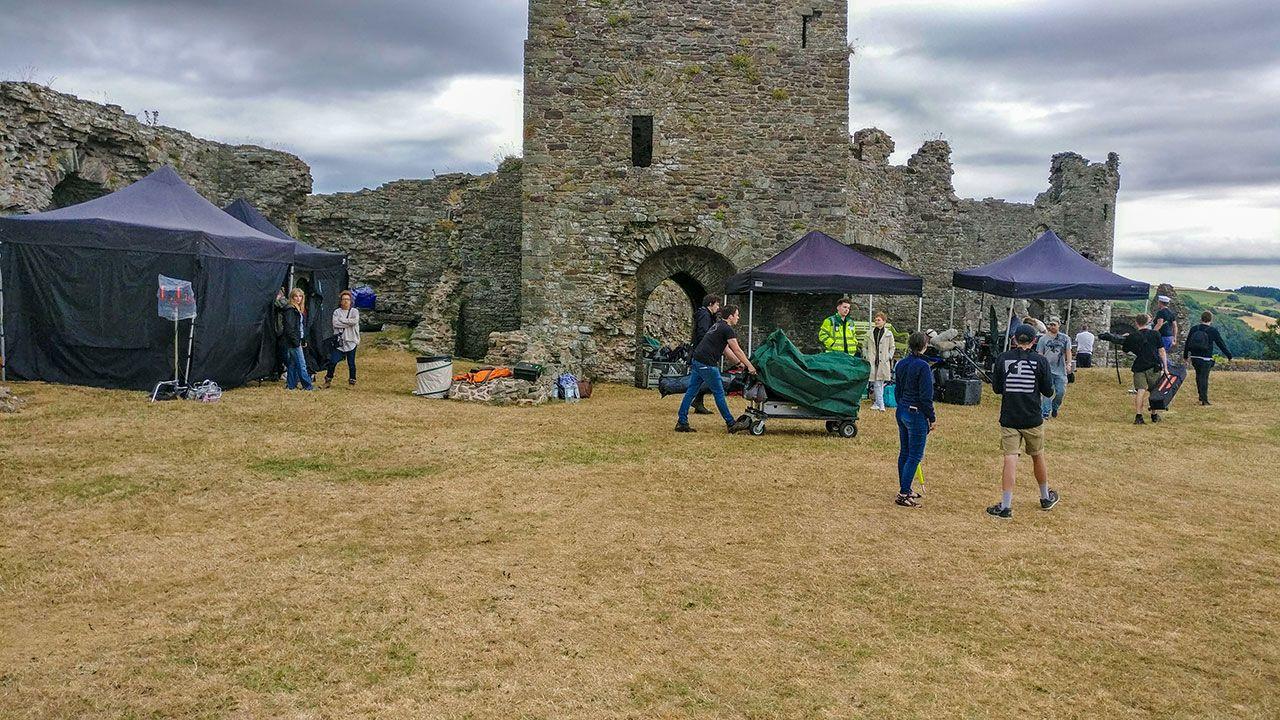 Filming at Llansteffan Castle