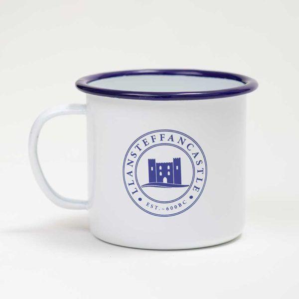Enamel Mug Llansteffan castle Product Logo